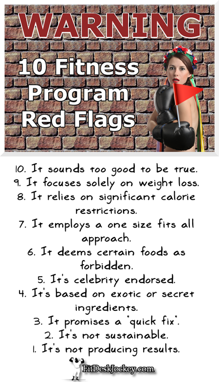 10 Fitness Program Red Flags