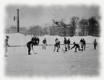 An Early Hockey Match