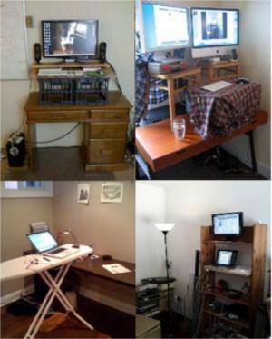 homemade standing desk