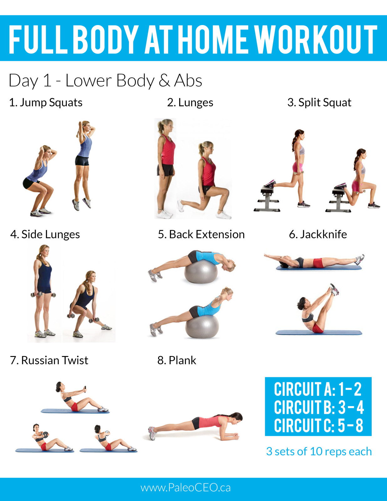 A Full Body At Home Workout