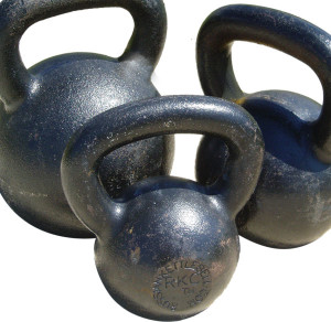 Kettlebells in Three Sizes