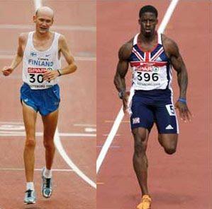 Marathon Runner and Sprinter